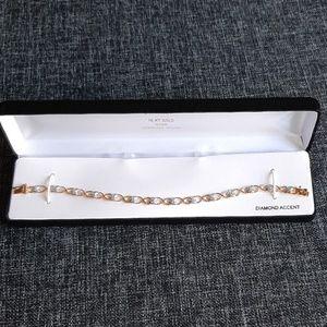 """Jewelry - 18 KT  Over Sterling """"Heart"""" Bracelet"""